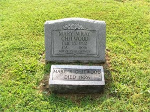 WRAY Mary - Photo of Tombstone in Rehoboth Cemetary (A)